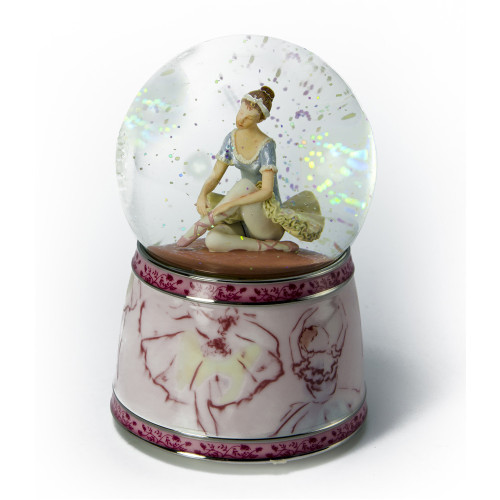 """A Ballerinas Day Begins with the Pointe Shoes by Twinkle """"cent Waterglobes"""