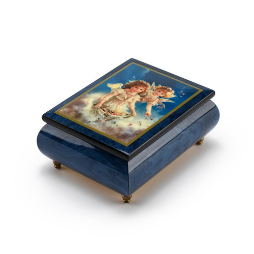 One of a Kind Musical Jewelry Box with Beautiful Painting Petals of Love by Brenda Burke