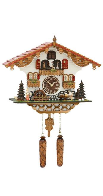 Musical Black Forest Quartz Chalet Cuckoo Clock with Beer Drinker by Trenkle Uhren 1