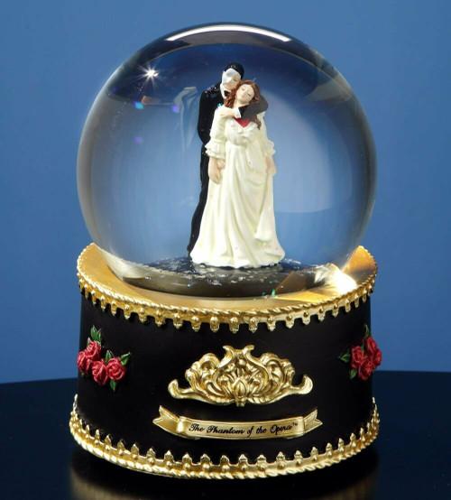 Phantom and Christine from Phantom of the Opera Rotating Water Globe