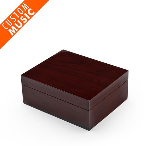 Contemporary Hi Gloss Dark Walnut USB Sound Module Music Jewelry Box
