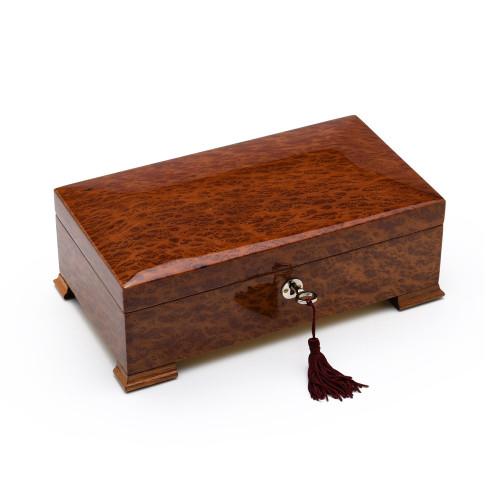 Stunning Vavona Wood 18 Note Classic Italian Style Musical Valet / Watch Box