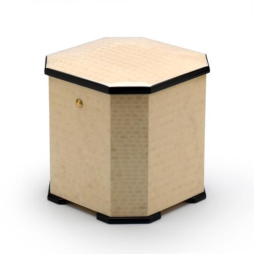 Harmonious Masonry Inspired Grand Italian Ivory Stained 18 Note Musical Jewelry Box