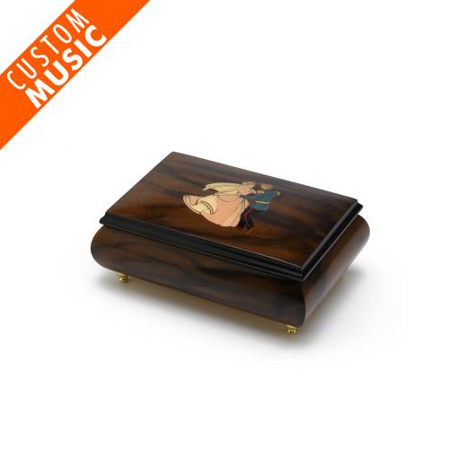 Custom Sound Module Digital Hi-Gloss Royal Couple Inlay Musical Jewelry Box