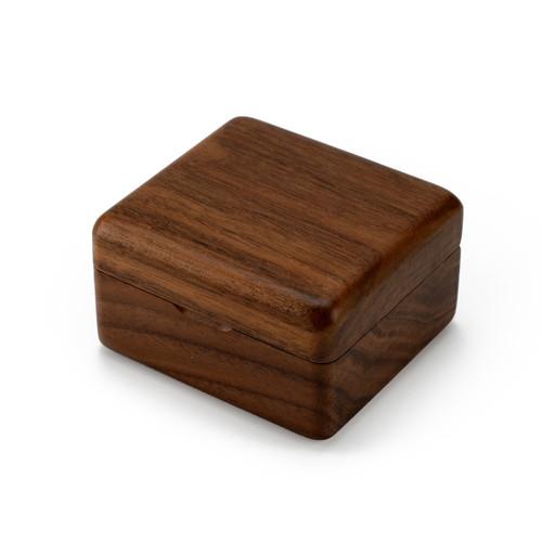 Handcrafted Solid Walnut 18 Note Musical Keepsake