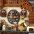 Black Forest Chalet with Bell tower and Animated Beer Drinker 1 Day Mechanical Cuckoo Clock