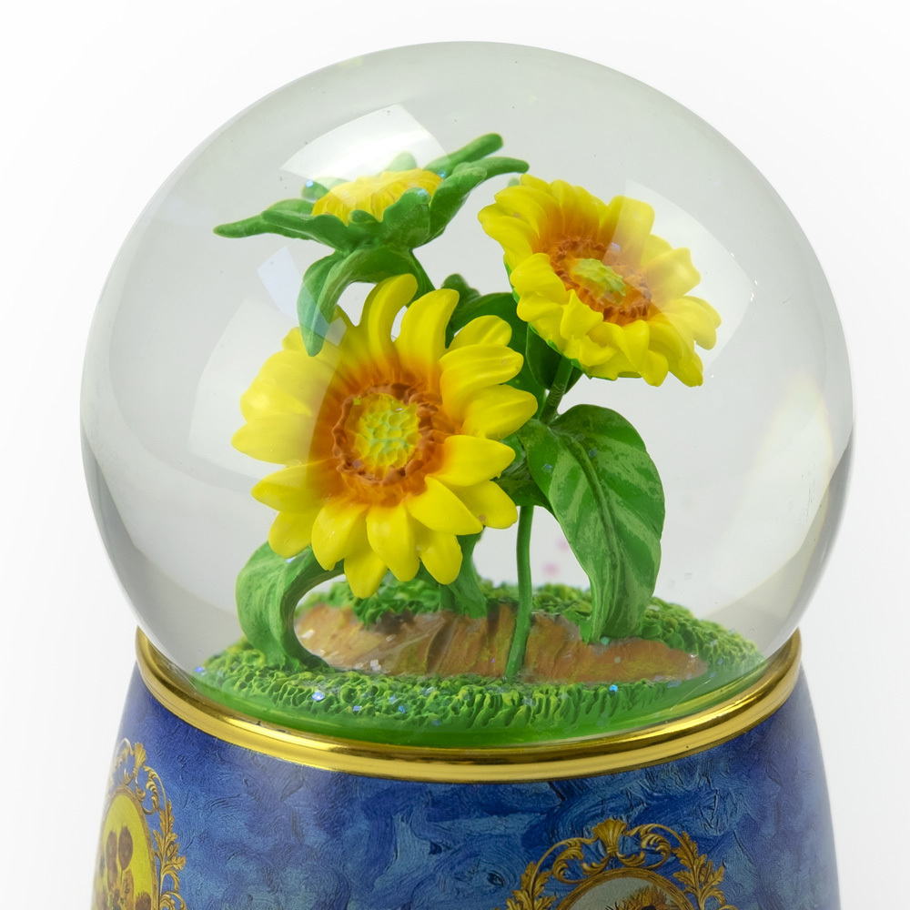 A Tribute to Van Goghs Sunflowers 18 Note Musical Water Globe