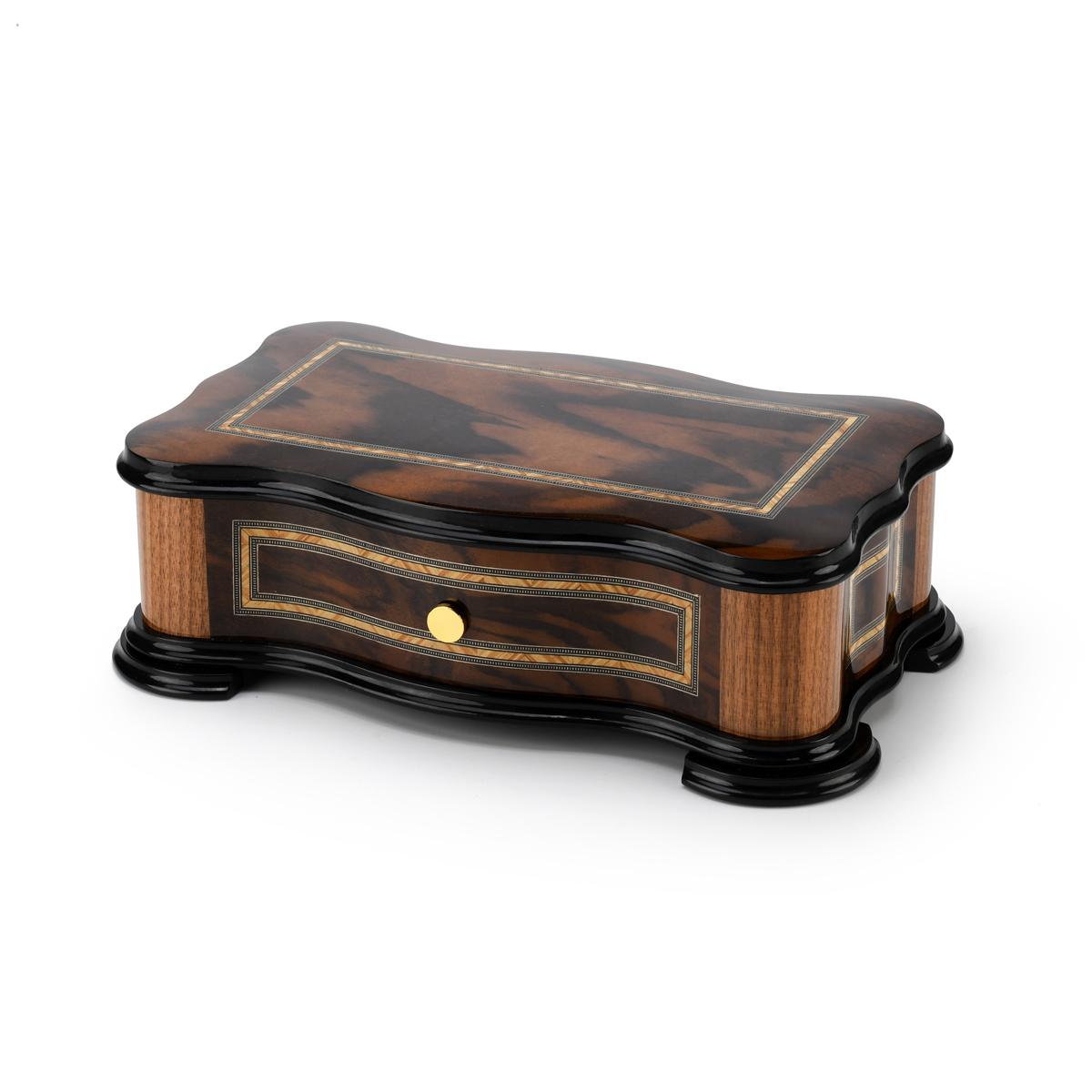 Handcrafted Italian Classic Style 72 Note Sankyo Grand Music Box