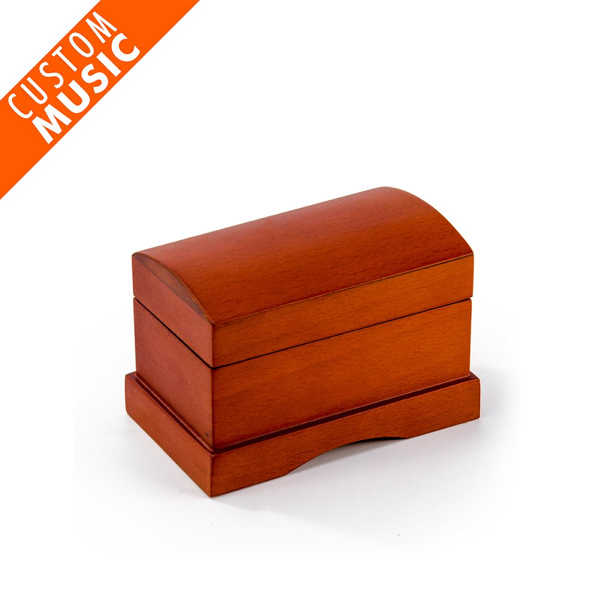 Matte Wood Tone Treasure Chest Custom USB Sound Module Music Box