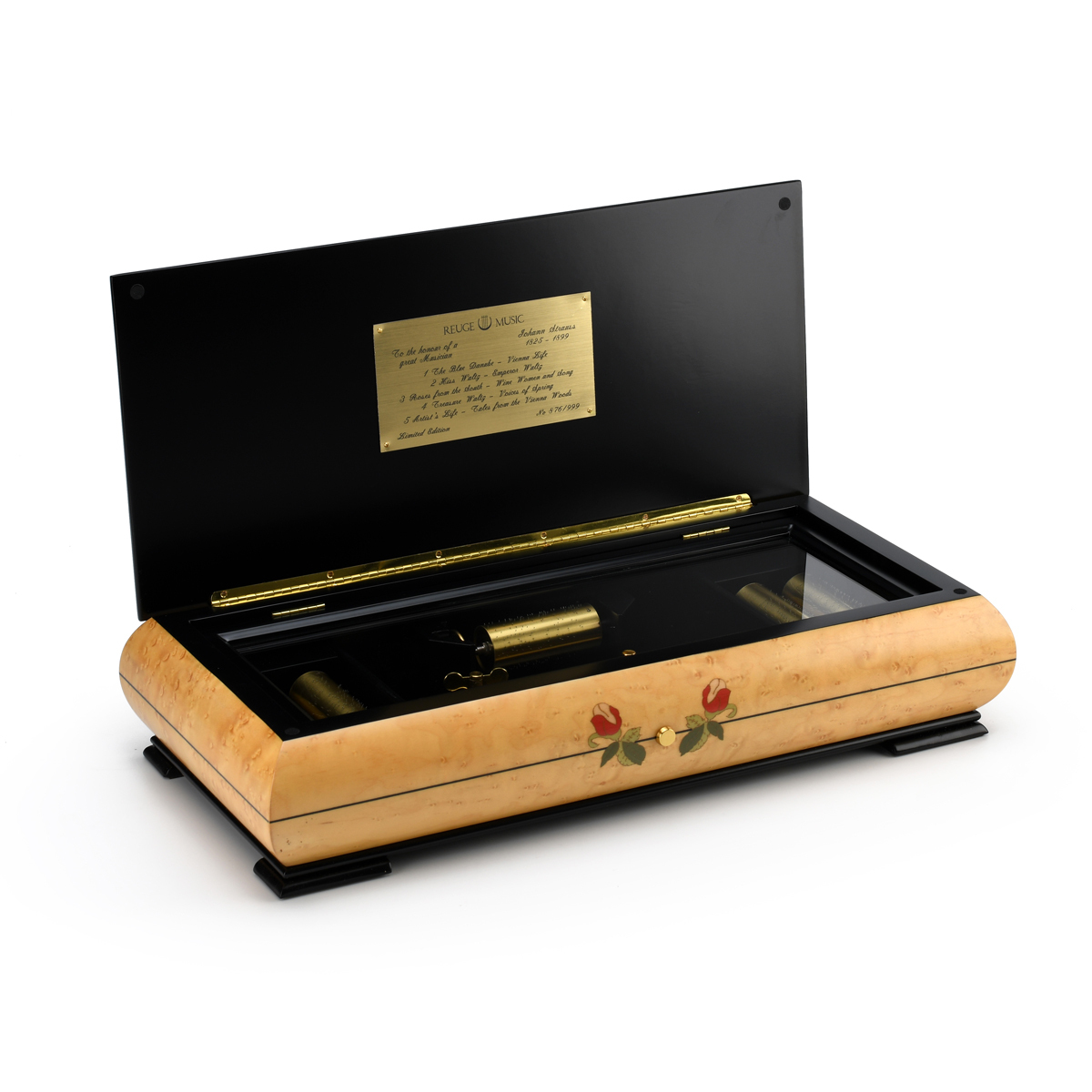 Limited Edition 5 Cylinder 50 Note Reuge Interchangeable Masterpiece with Mother of Pearl Inlay
