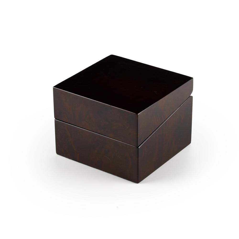 Elegant Burl Wood Single Watch Box with Beige Interior