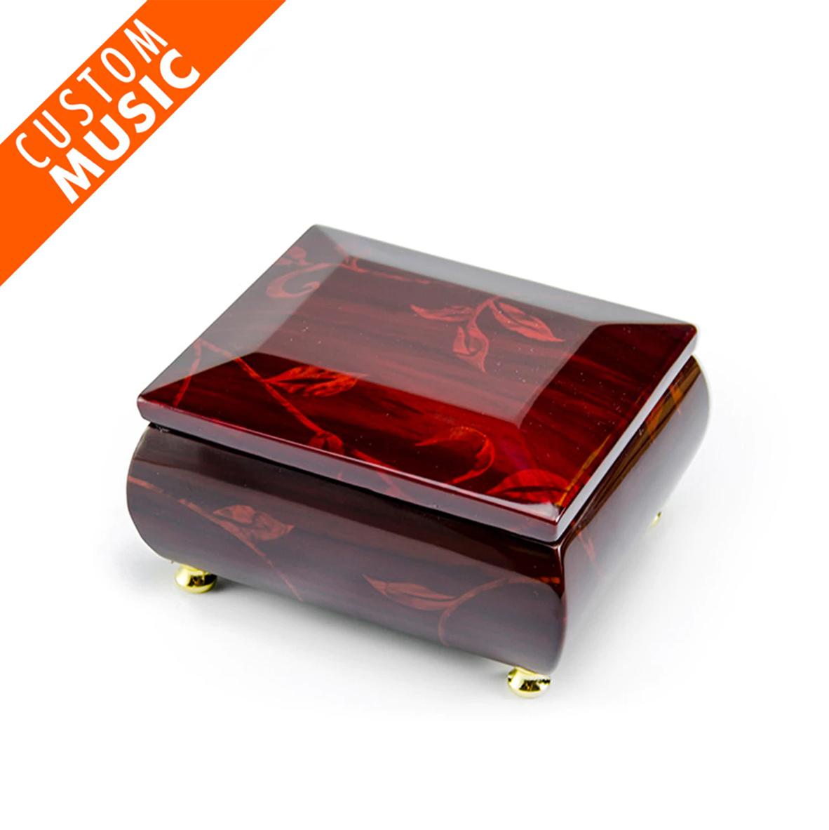 Custom Digital Any Music or Song Floral Motif Music Box w USB