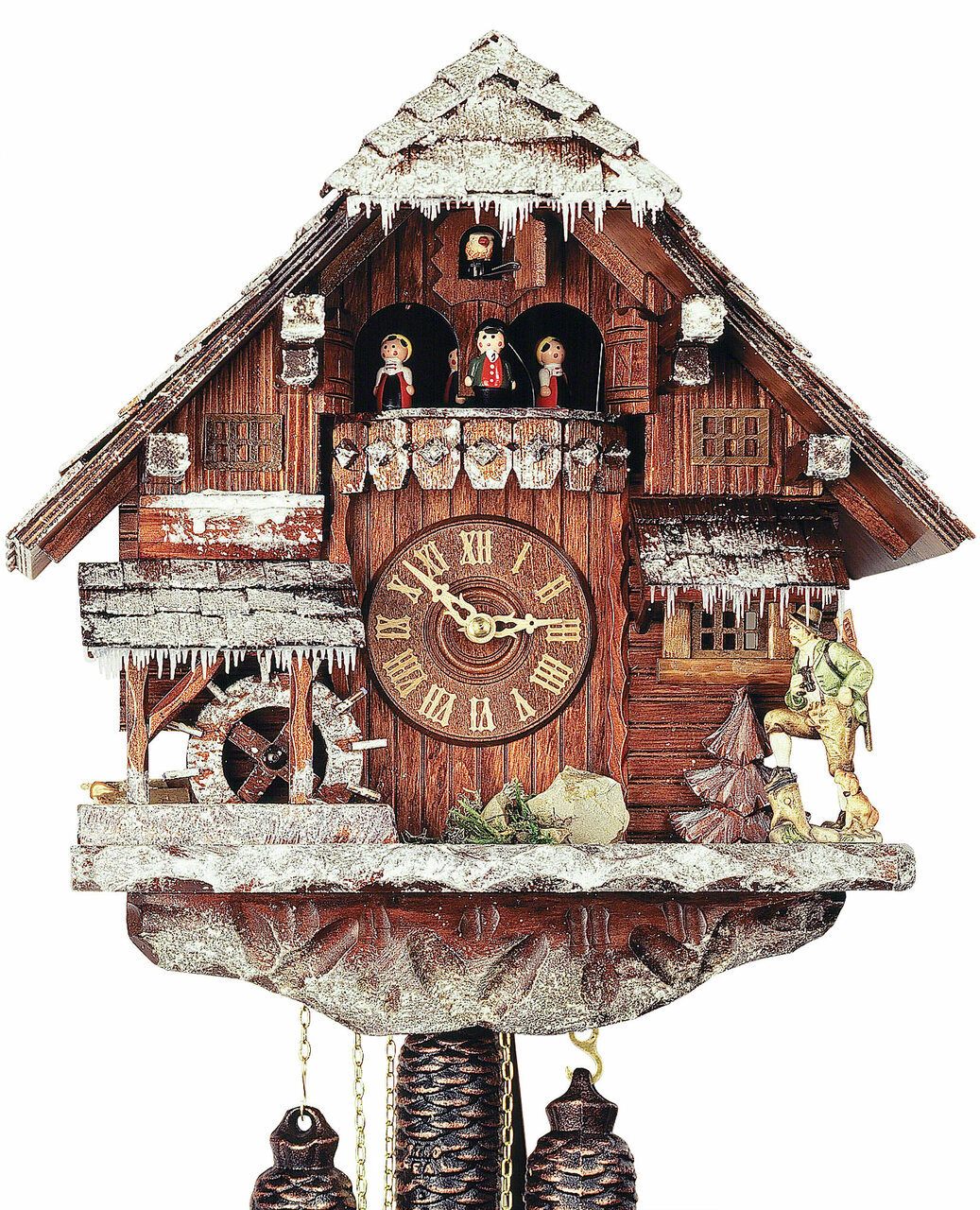 Black ForestForest VDS Certified 8 Day Musical Cuckoo Clock with Hand Carved Winter Landscape by Rombach and Haas
