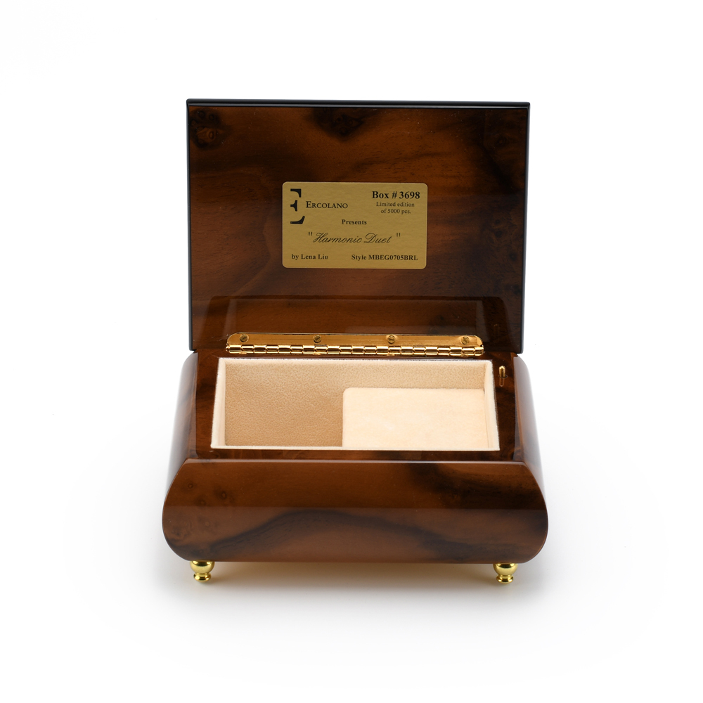 Handcrafted Ercolano Music Box Featuring Harmonic Duet by Lena Liu
