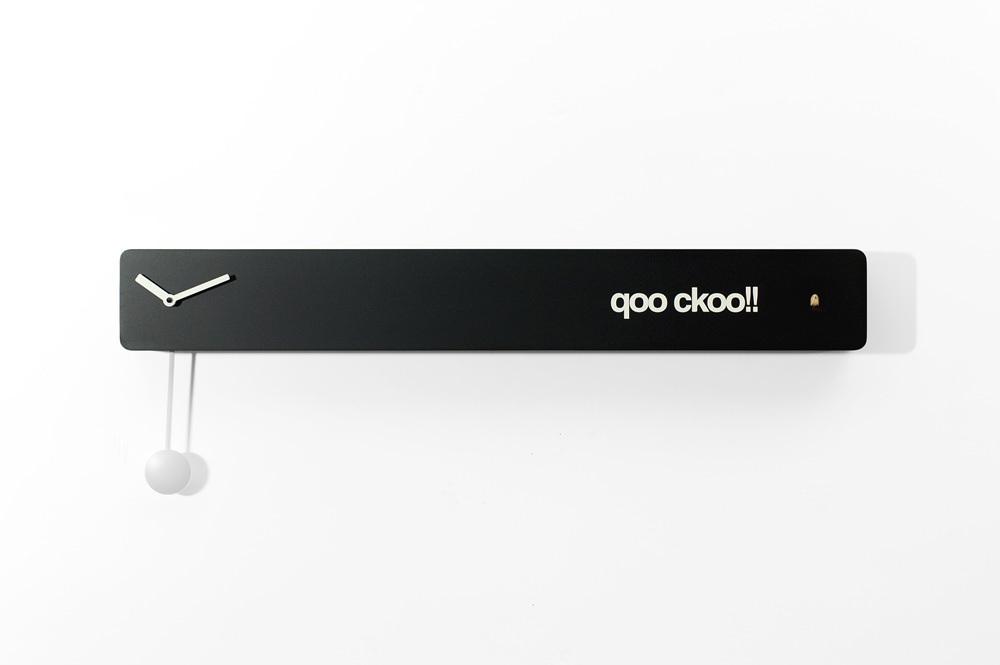 Minimalist Matte Black Modern Cuckoo Clock - Q02 by Progetti