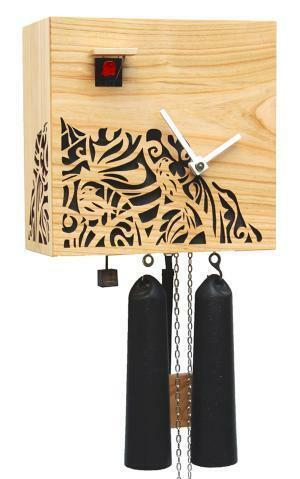 Modern VDS Certified Solid Cherry 8 Day Carved Black Romba Art Cuckoo Clock by Rombach and Haas