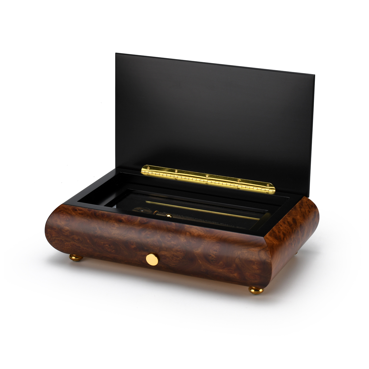Traditional 50 Note Sankyo Musical Instrument Theme Inlay Grand Music Box