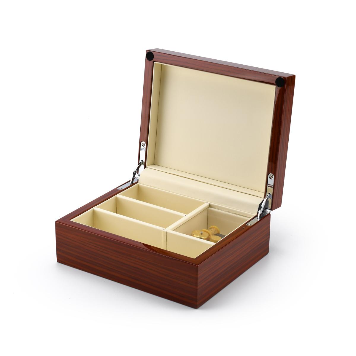 Ultra-Modern 18 Note Hi Gloss SA Wood Finish 5 LCD Video Jewelry Box