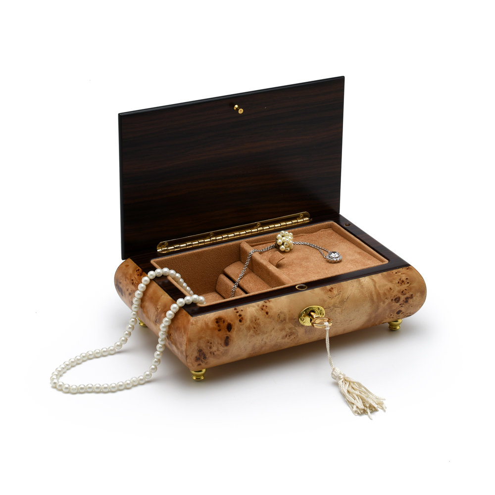 Classic Style 18 Note Italian Music Jewelry Box with Lock and Key