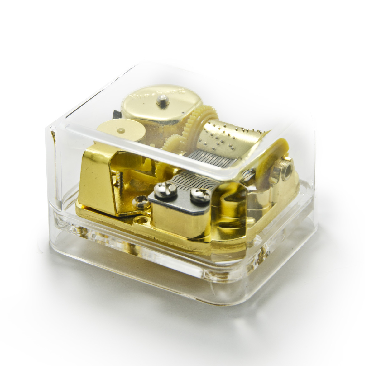 Clear 18 Note Acrylic Box Musical Paperweight