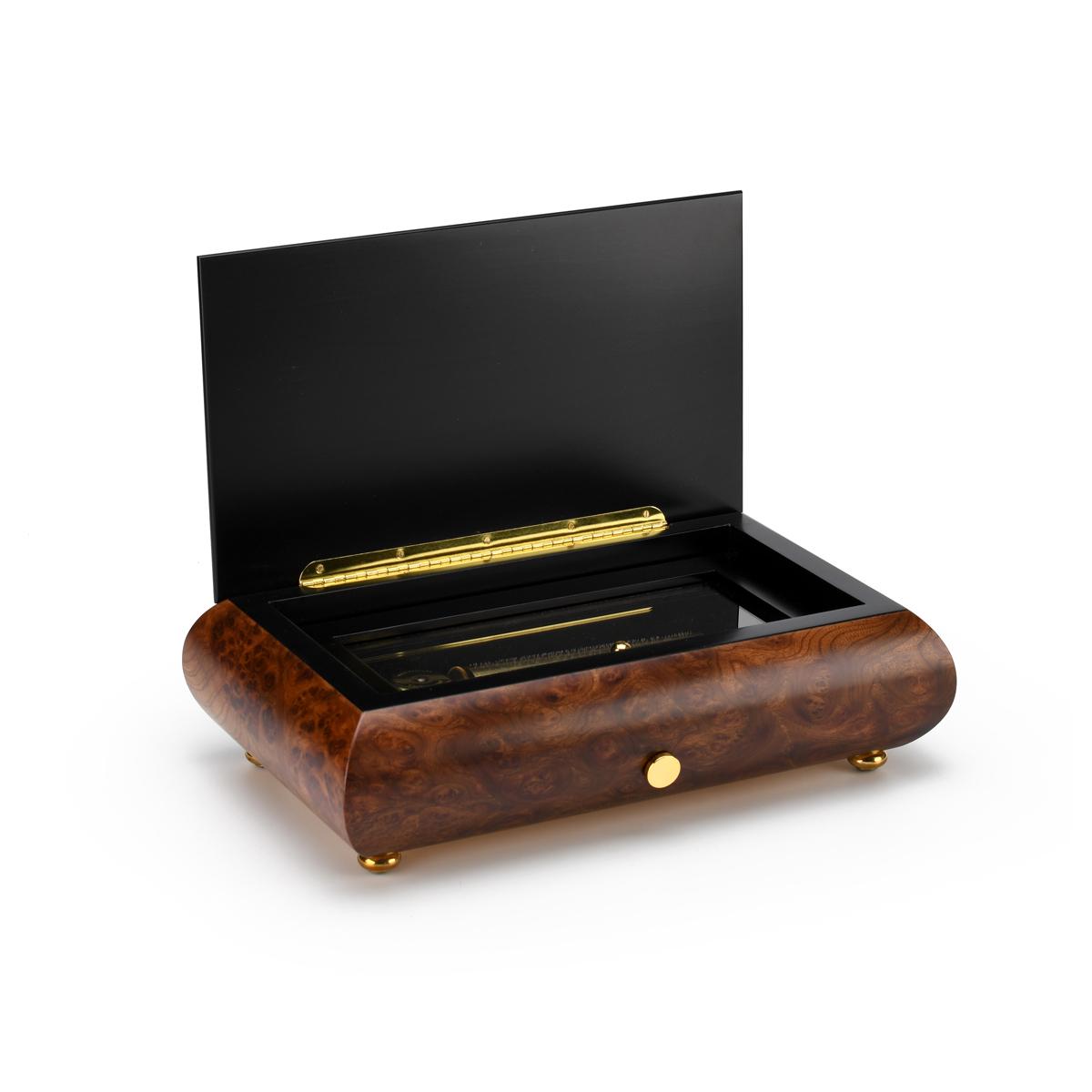 Traditional 72 Note Sankyo Musical Instrument Theme Inlay Grand Music Box