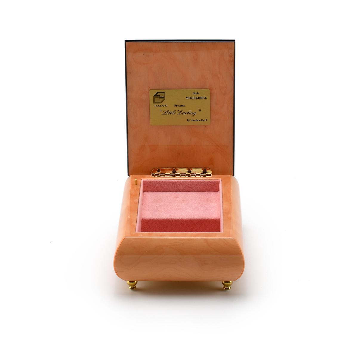 Handcrafted Ercolano Music Box Featuring Little Darling by Sandra Kuck
