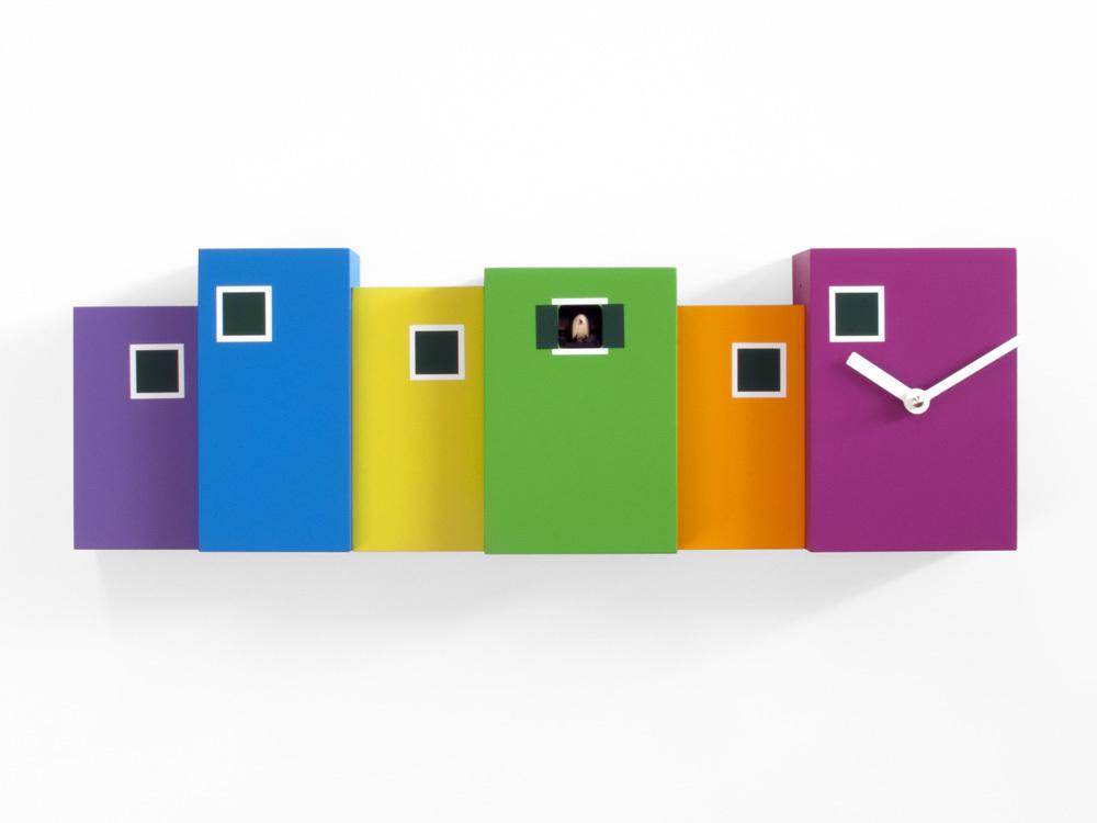 Modern Multi Colored Cuckoo Clock - Burano by Progetti