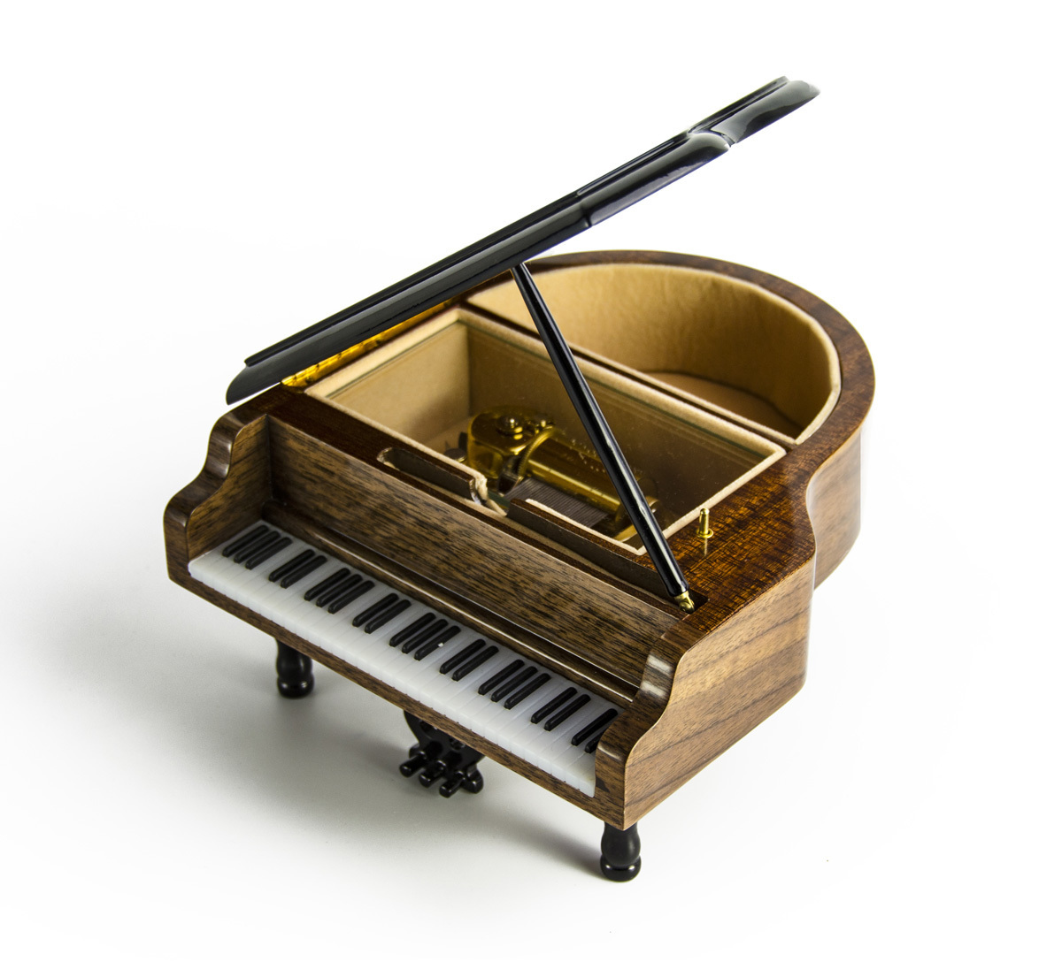 Gorgeous 22 Note Miniature Musical Grand Piano with Musical Theme Inlay