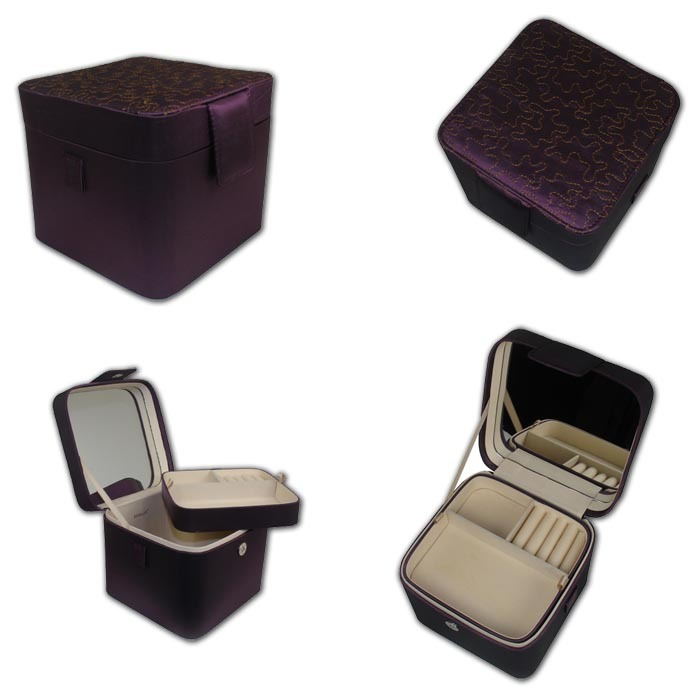 Extraordinary Purple Double Layer Jewelry Box