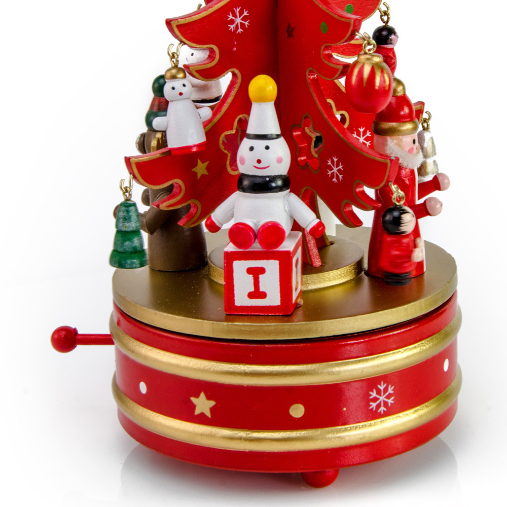 Red and Gold Musical Christmas Tree on Rotating base
