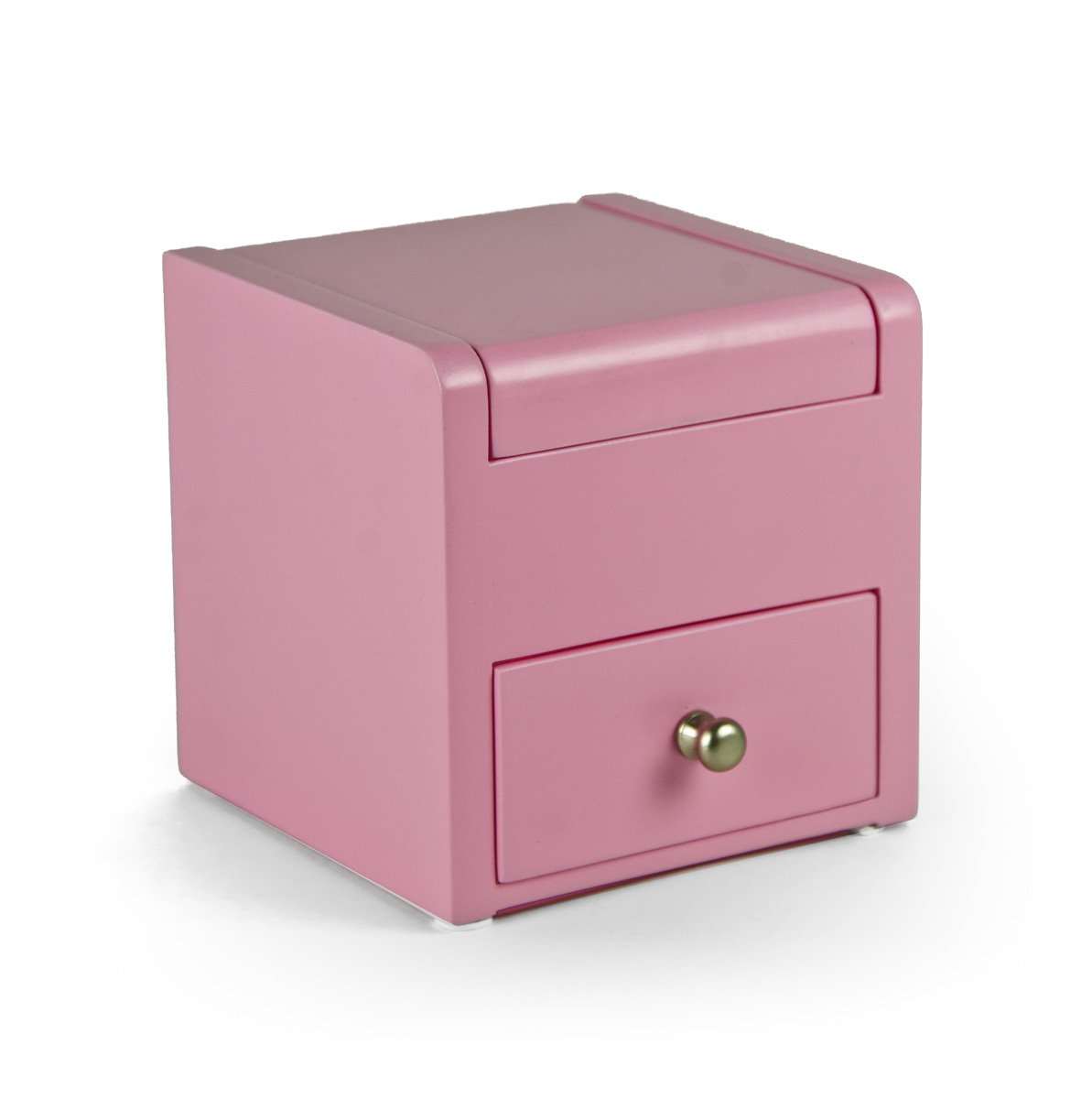 Matte Pink 18 Note Ballerina Musical Jewelry Box with Pull Out Drawer - Easy Song Selection