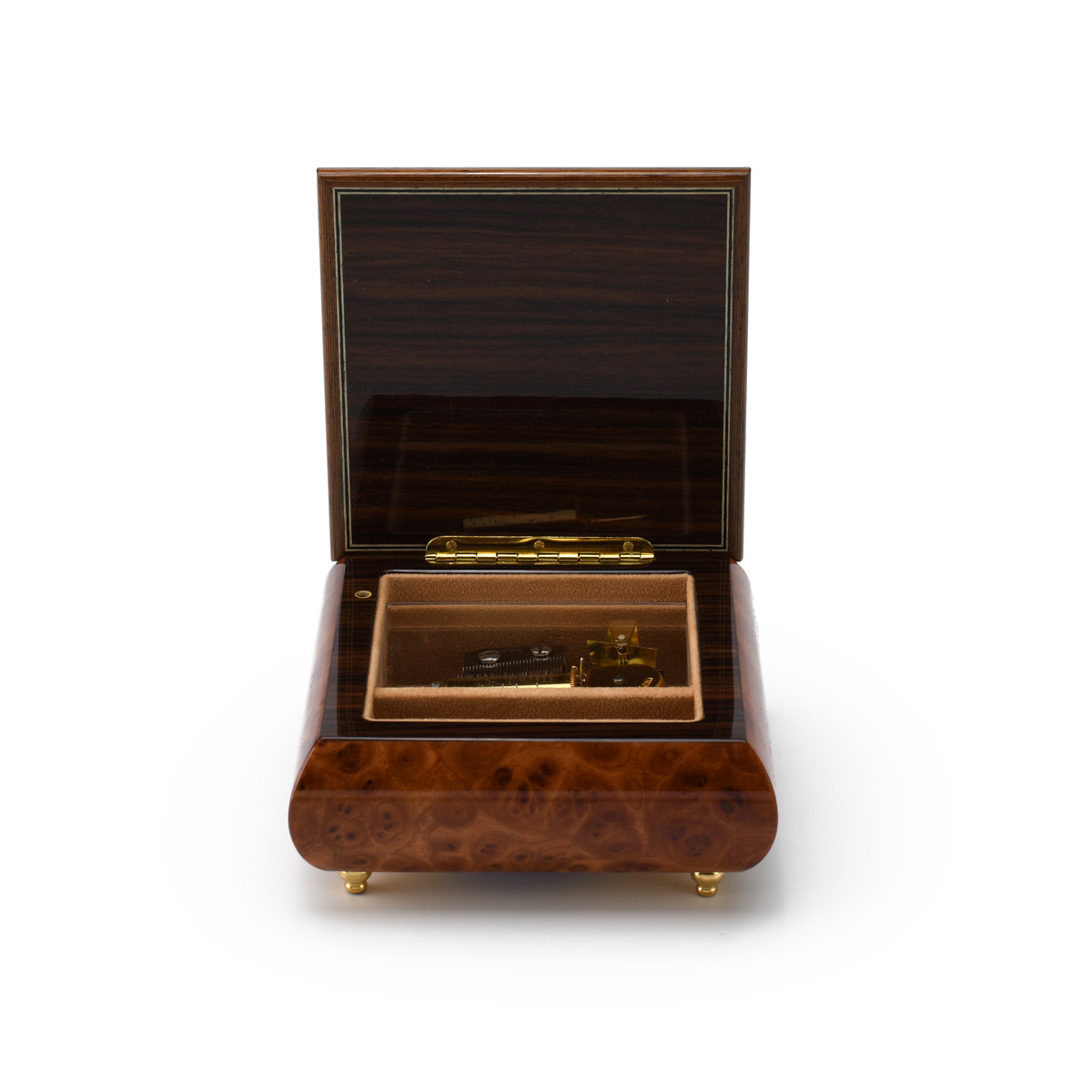 Handcrafted 60th Anniversary or Birthday with Ornament Frame Musical Jewelry Box