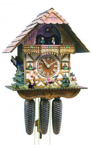 Black Forest Forest VDS Certified 8 Day Musical Cuckoo Clock with Hand Carved Herdsman with Whip by Rombach and Haas