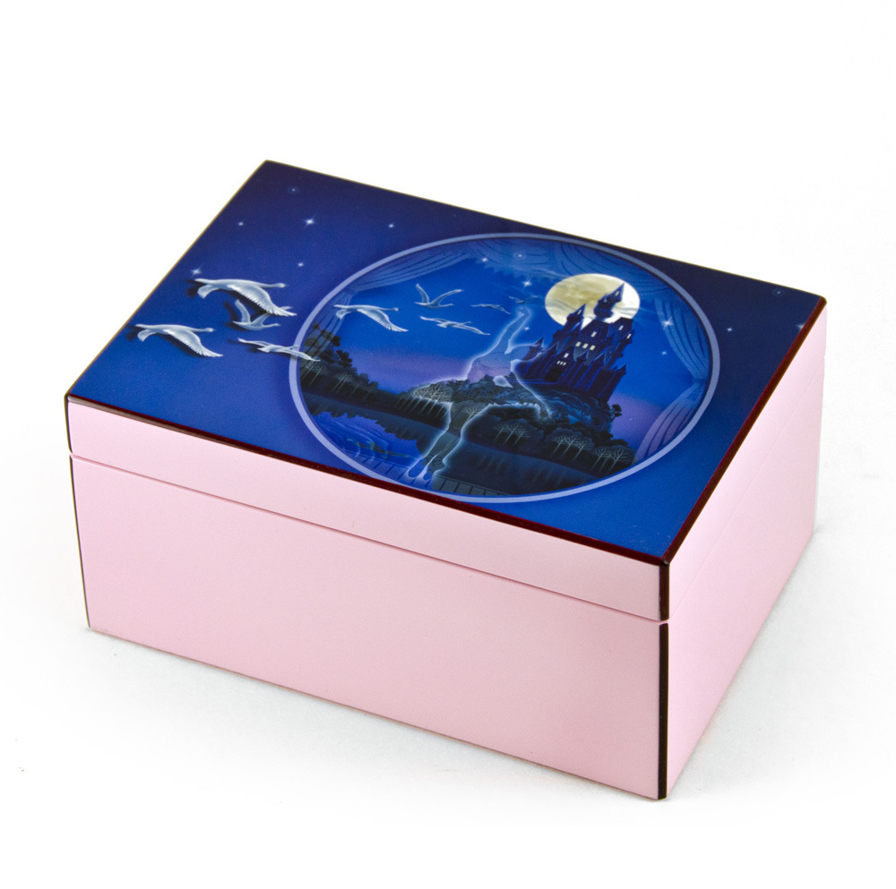 """Hi-Gloss Pink and Purple Enchanted Ballet Musical Jewelry Box By Twinkle """"cent"""