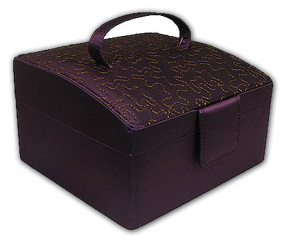 Gorgeous Amethyst Double Layer Jewelry Box
