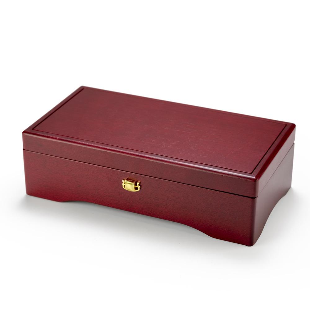 Red Minimalistic Designed 72 Note Sankyo Music Box Keepsake