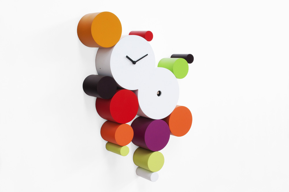 Modern Colorful and Playful Jellies Cuckoo Clock - Cucuball Warm by Progetti