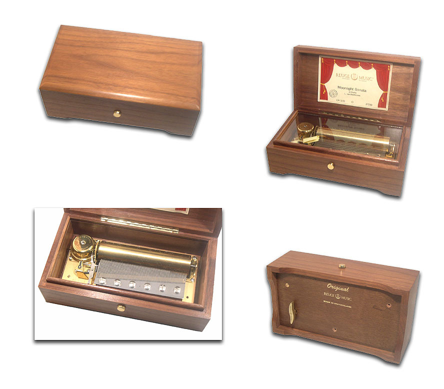 One of a Kind Simply Elegant 3.72 Note Movement REUGE Music Box