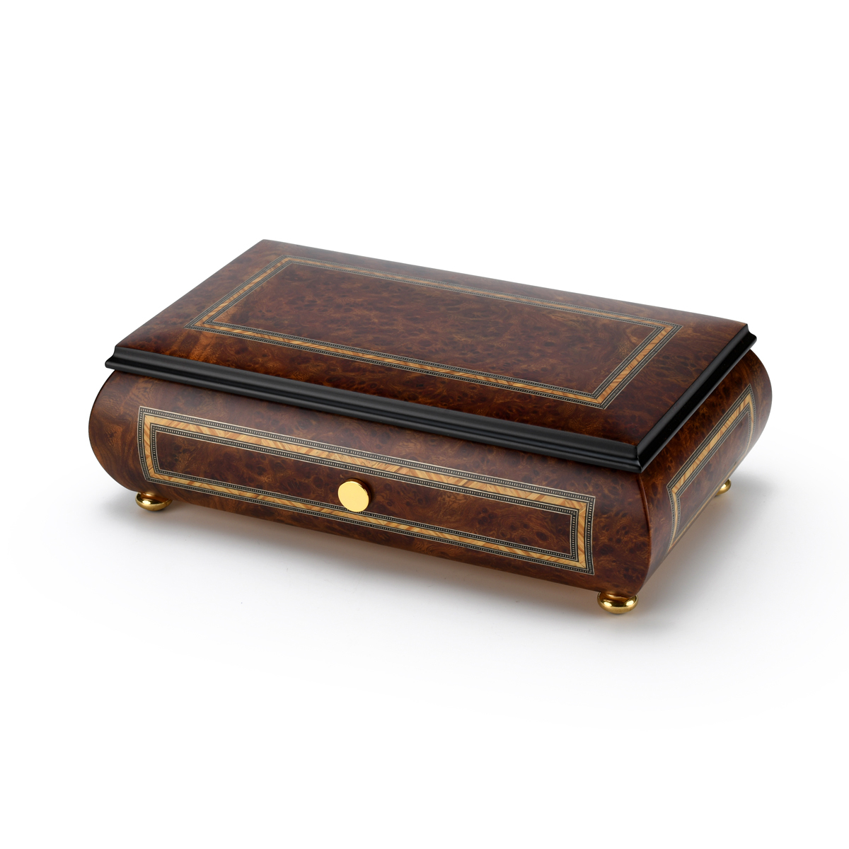 Hand Made 72 Note Sankyo Classic Style with Frame Inlay Grand Music Box