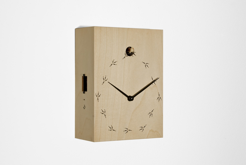Natural Wood Tone Modern Cuckoo Clock - TipTop by Progetti