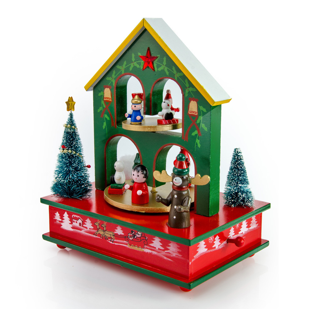 Festive Christmas scene With Jolly Friends Musical holiday Keepsake