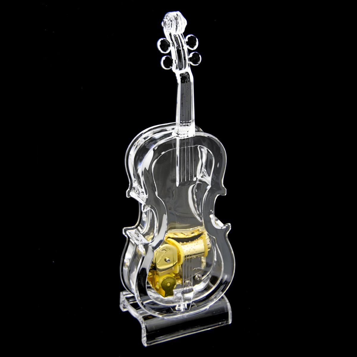Amazing 18 Note Musical Acrylic Miniature Violin with Stand