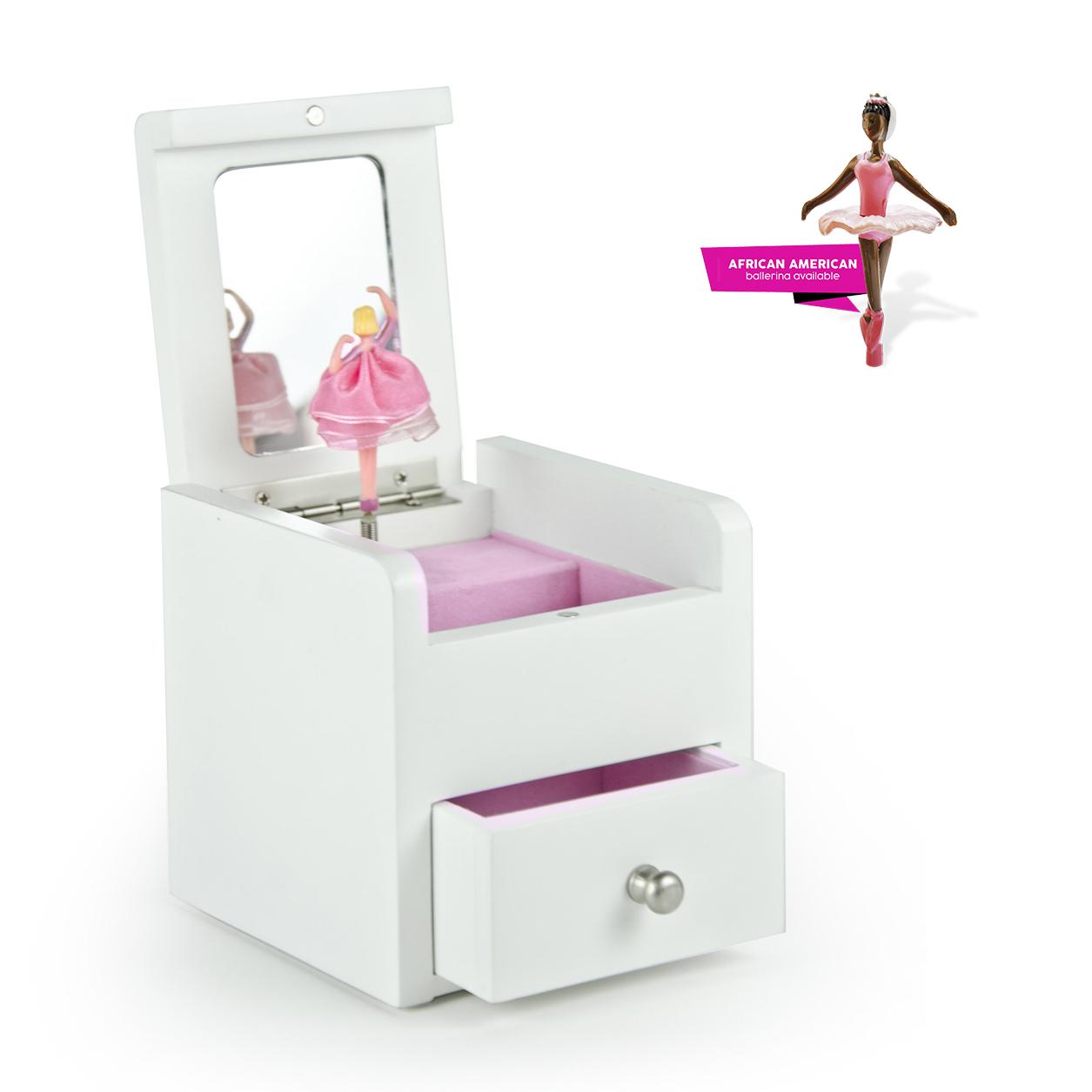 White Ballerina Custom USB Sound Module Any Song Music Jewelry Box