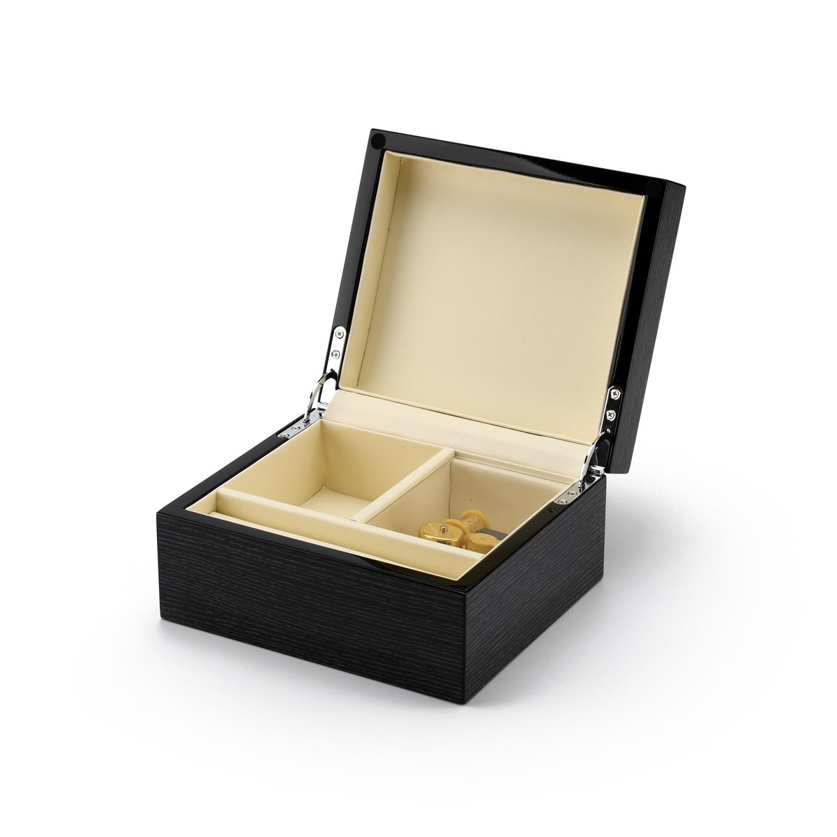 Ultra-Modern 36 Note Hi Gloss Black Apricot finish 3.6 LCD Video Jewelry Box