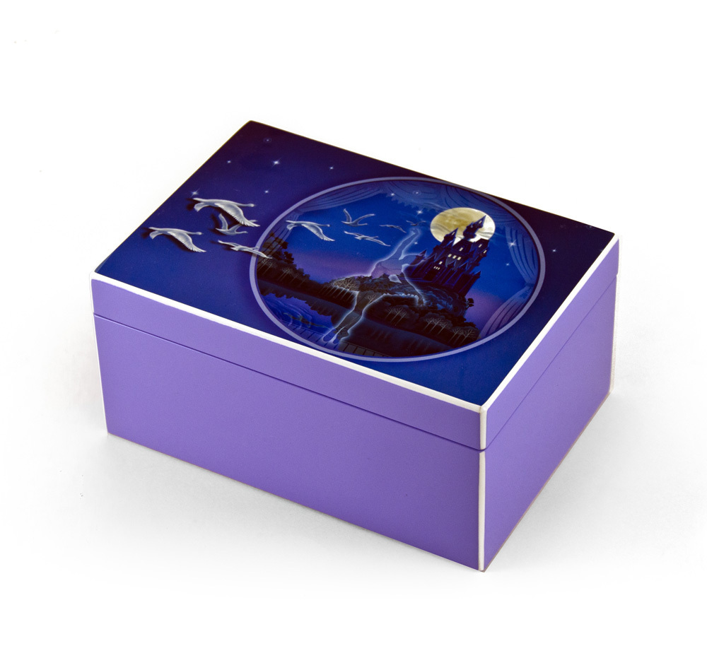 Hi-Gloss Purple Enchanted Ballet Musical Jewelry Box By Twinkle