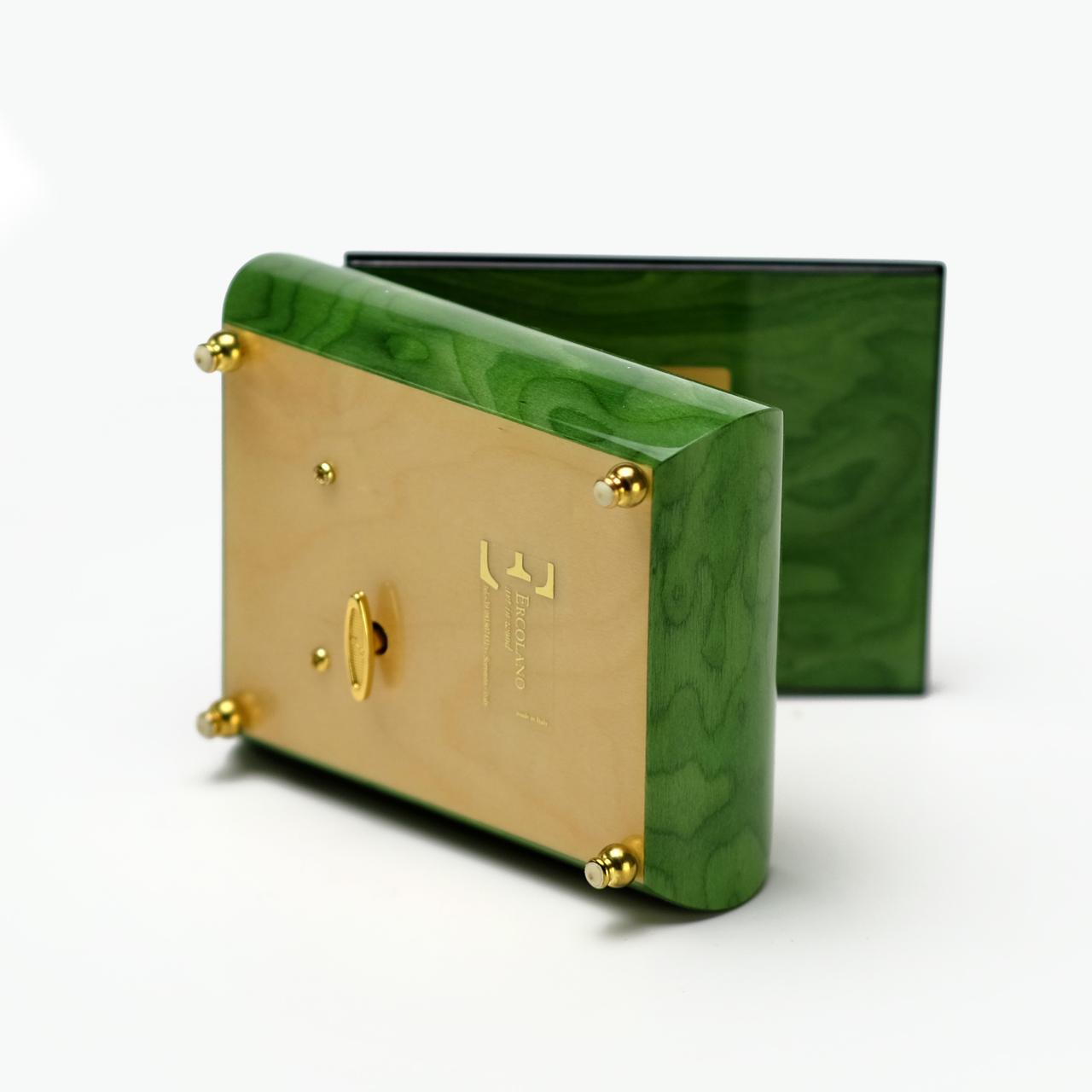 Handmade Ercolano 18 Note Music Box - Painting The Little Dragon Vase by Brenda Burke