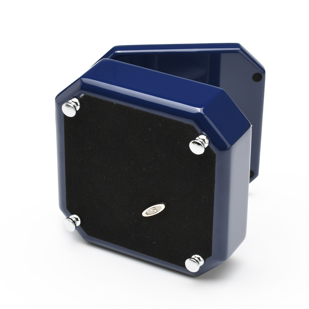 Stunning 18 Note Midnight Blue Musical Jewelry Box with Silver Hardware