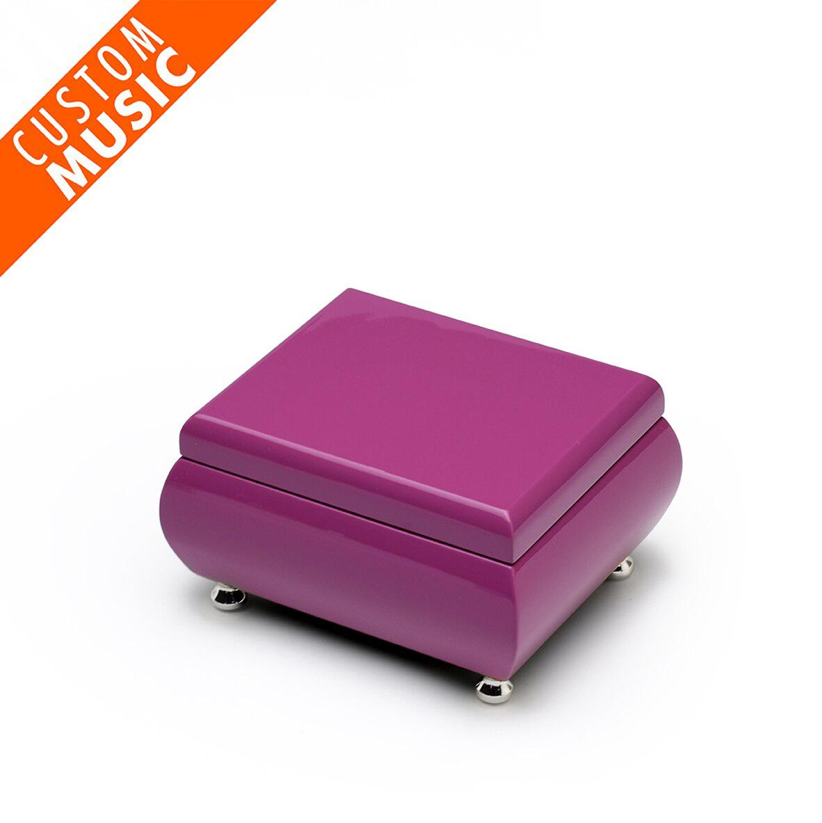 Vibrant Hi-gloss Lavender USB Sound Module Music Jewelry Box