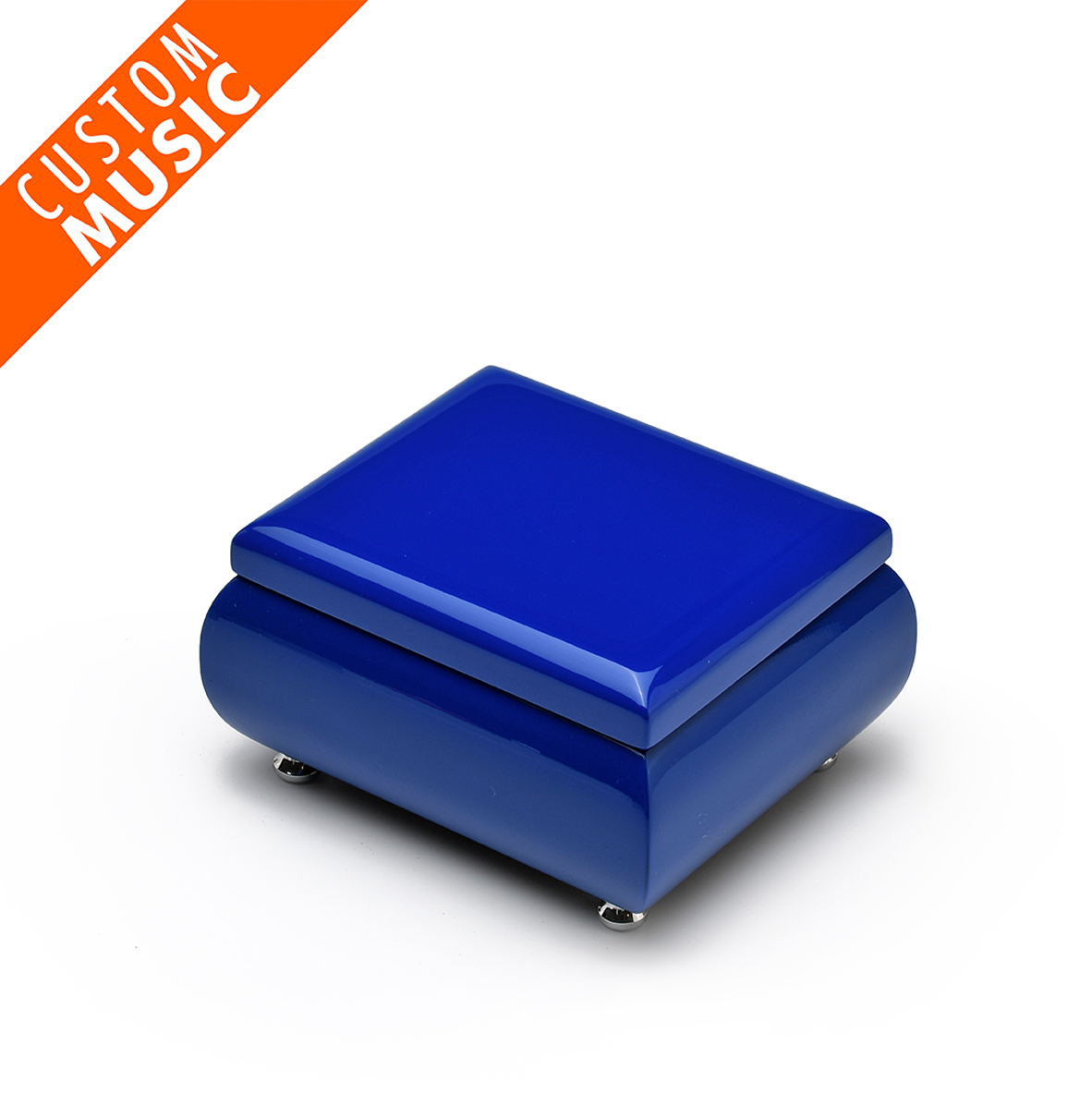 High Gloss Navy Blue USB Sound Module Music Jewelry Box