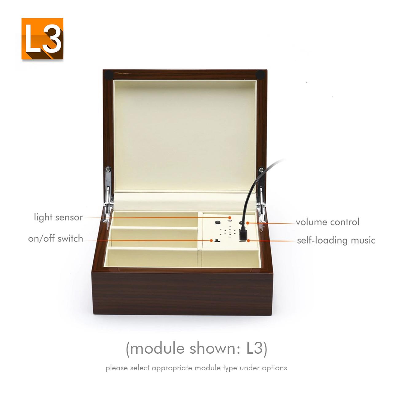 Ultra-Modern High Gloss USB Sound Module Music Jewelry Box